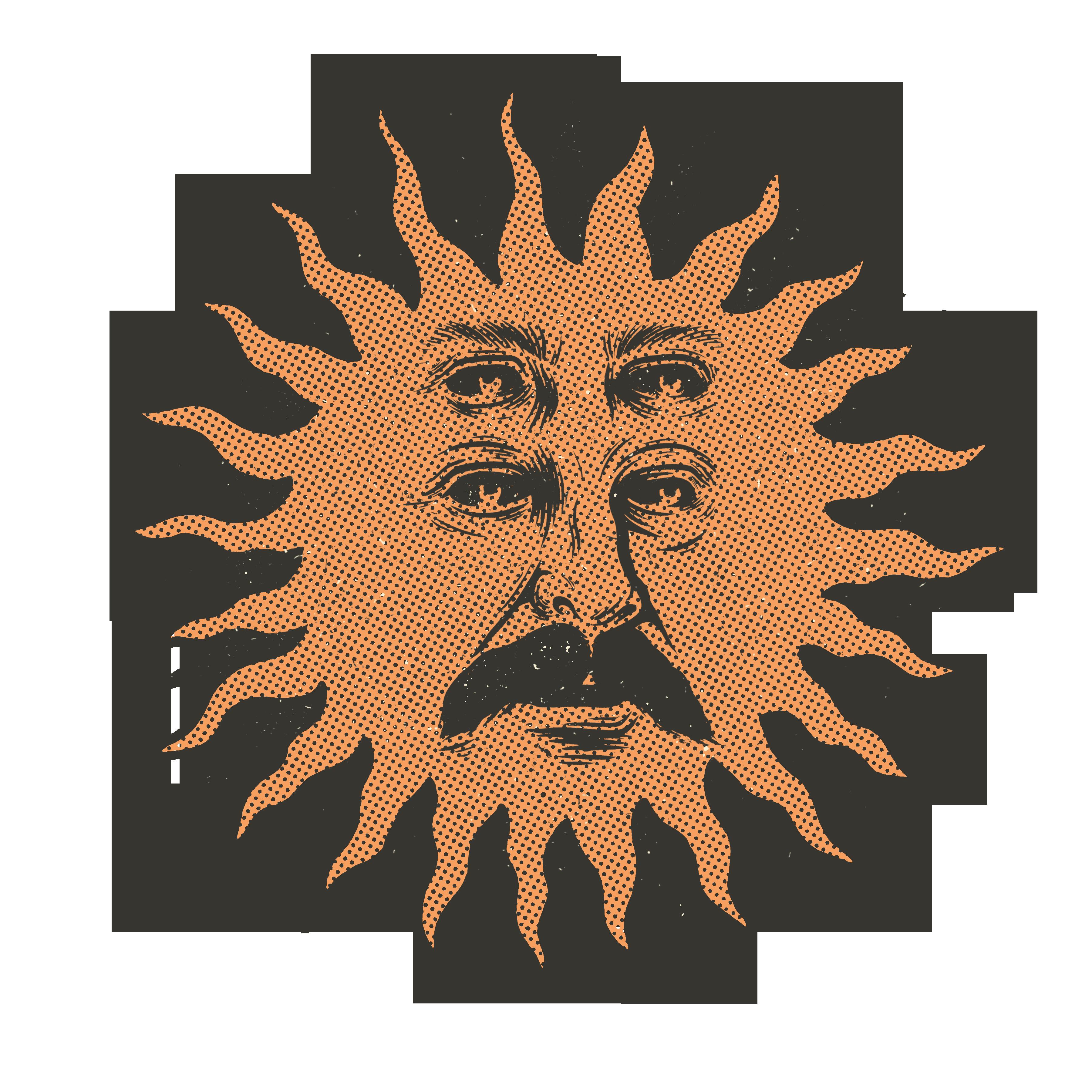 Sun face t shirtv2