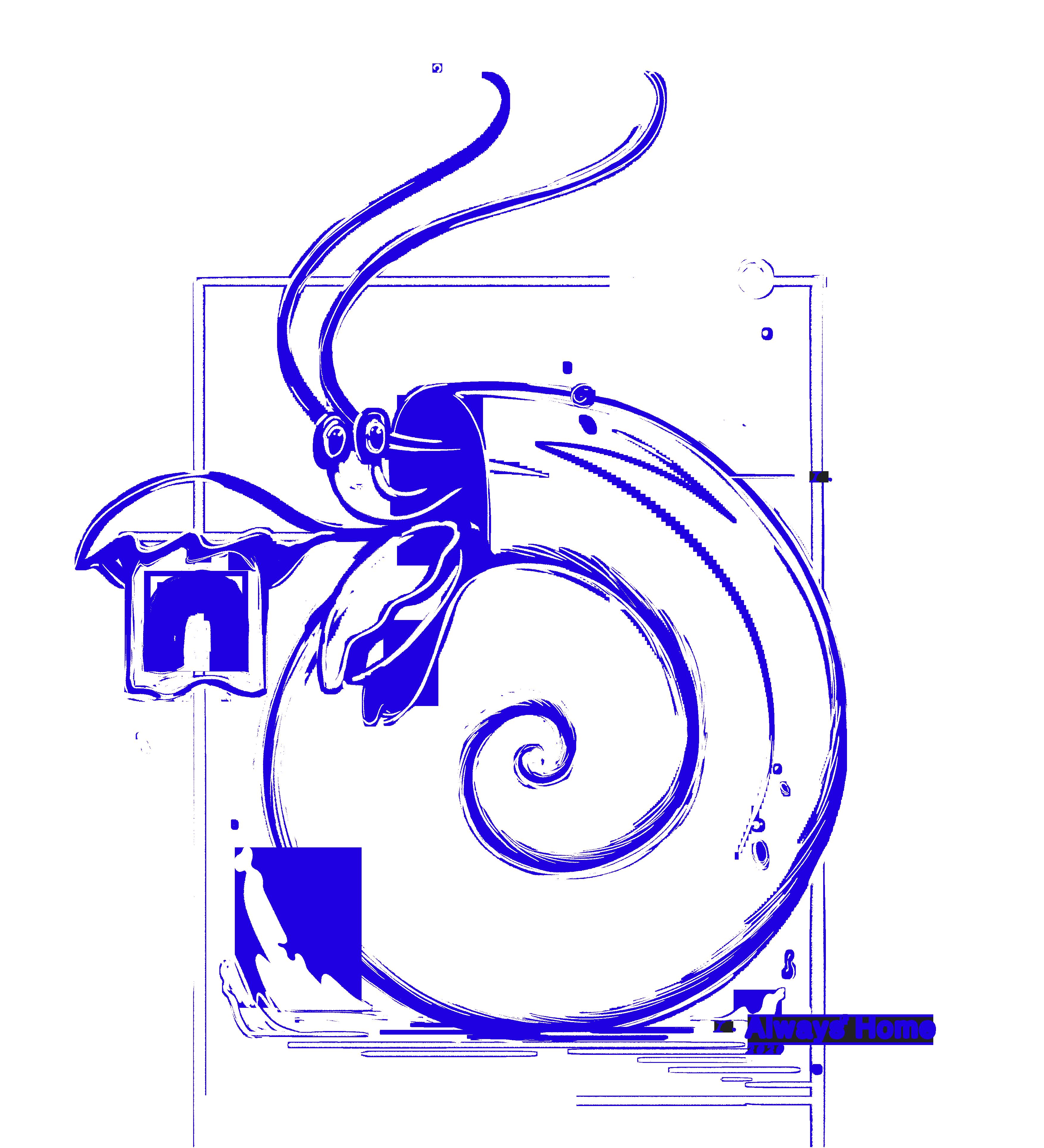 Back blue