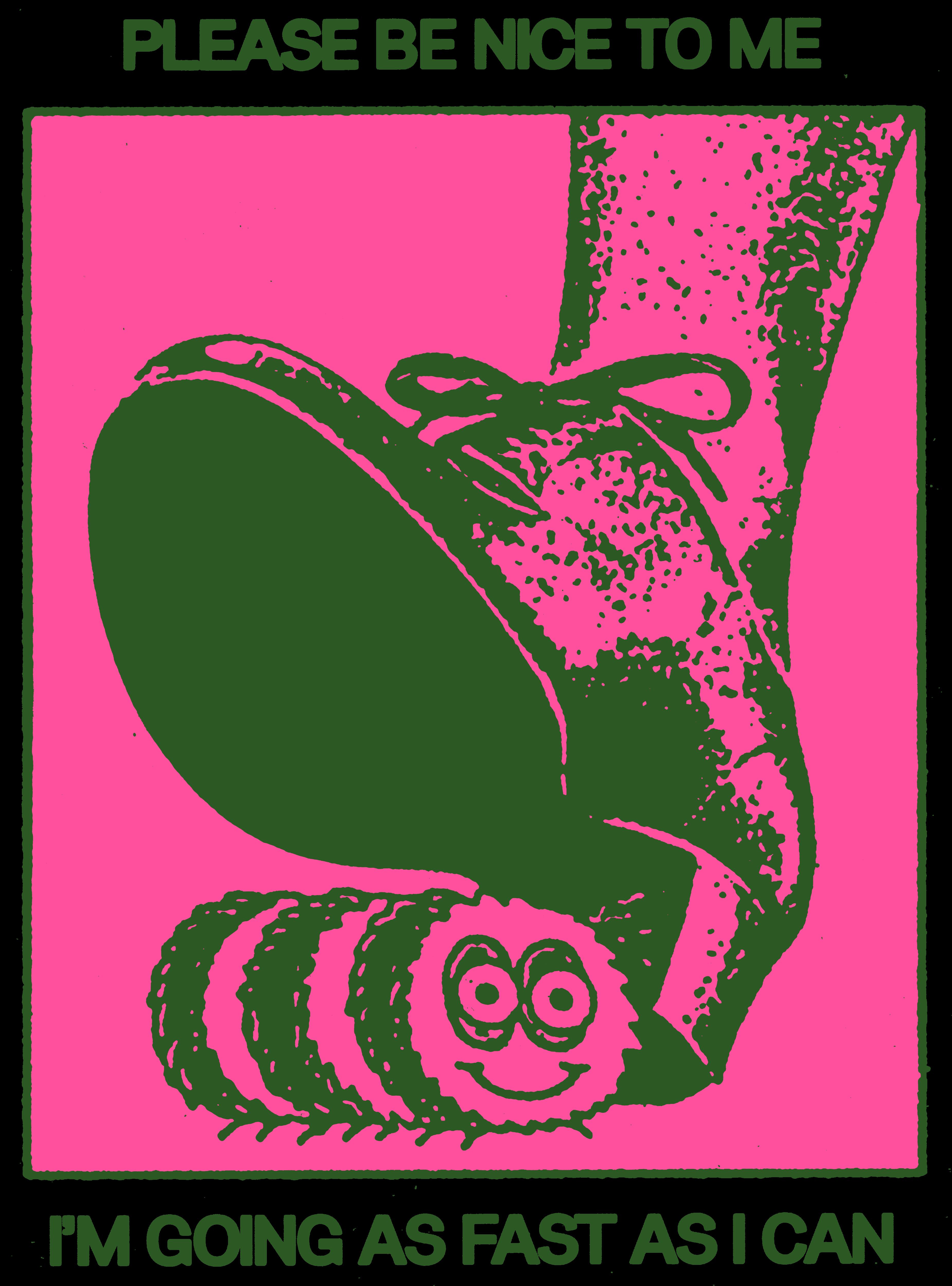 Slowworm back pink