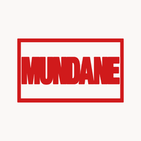 Mundane logo circle off white